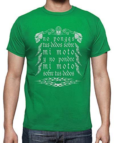 tostadora - T-Shirt Non Toccare la Mia Moto - Uomo Verde Prato XL