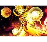 LCCZSH Diamante Ricamo Naruto Sasuke Diamante Mosaico Immagini Diamanti Mosaico Anime Diamante Pittura Trapano Decorazione della Parete Completa 100 * 150 Cm