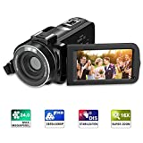 Digital Camcorder, Regemoudal Full HD Video Camera 1080P Video Recorder Camera 24MP 16X