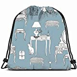 khgkhgfkgfk Furniture Decorative Elements interiors Antique Drawstring Backpack Gym Sack Lightweight Bag Water Resistant Gym Backpack for Women&Men for Sports,Travelling,Hiking,Camping,Shopping Yoga