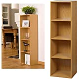 4 Tier Wooden Bookcase Storage Shelving Unit by Top Home Solutions