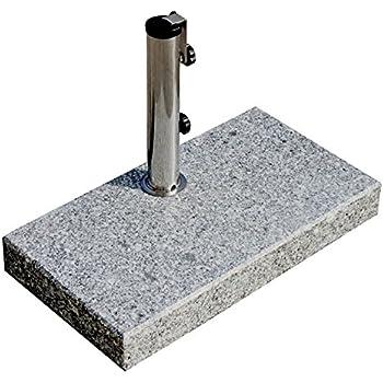 Schirmständer Granit 25 kg Eckig Rund Garten Balkon Schirm-Befestigung