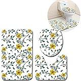 Missrui U-förmige Badezimmer-Duschmatte, Rutschfest, extra weich, perfekt für Fußmatten, Badewanne, Dusche Four