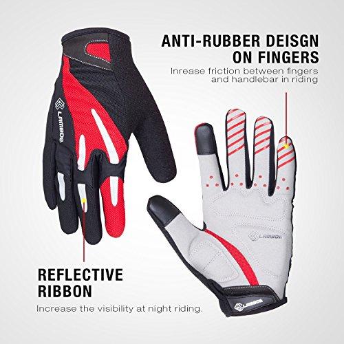 4ucycling Touchscreen Fahrradhandschuhe mit Gel Padded Super Atmungsaktiv Radsport Handschuhe XL - 4