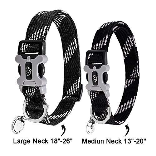 Eorefo Collar para Perro con Diseño Reflectante Suave Personalizado Collares para Perros medianos y Grandes.