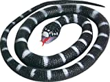 Wild Republic 93002 Serpiente Calif King Rubber Snake, Black, 66 cm