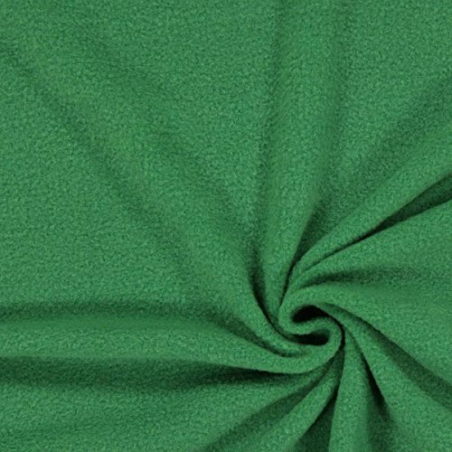 (Fabulous Fabrics Fleece Antipilling grasgrün – Flauschiger Fleece Stoff zum Nähen von Decken, Westen, Jacken und Cardigans - Meterware ab 0,5m)