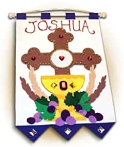 Boys First Communion Banner Kit - Cross Design