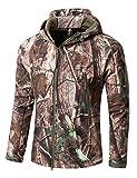 YFNT Taktisch Softshell Fleecejacke Camouflage Militär Hoodie Outdoor Wandern Camping Warm Innenfutter Winddicht Wasserdicht Mantel Jacken Skijacke