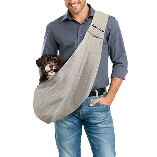 FurryFido Reversible Pet Sling Carrier - For