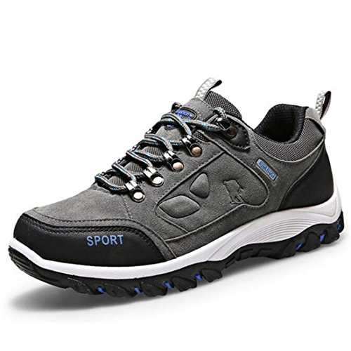 Men's Anti Slip Breathable Waterproof Outdoor Hiking Shoes Grey