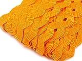 Zackenlitze-Zick-Zack Borten 9mm gesamtnbreite. 4 Meter in orange