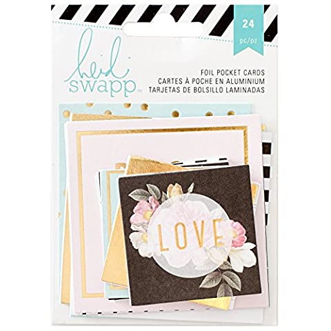 American Crafts Heidi Swapp mémoire Planner Pocket Cartes 2, acrylique, Multicolore