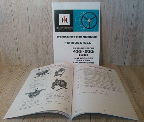 Preisvergleich Produktbild Werkstatthandbuch Fahrgestell für IHC Schlepper 433 + 533 + 633 + 733