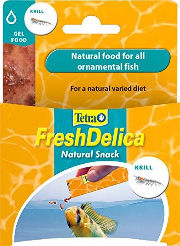 Tetra FreshDelica Krill Naturfutter in nährstoffreichem Gelee für alle Zierfische, 3er Pack (3 x 48 g)