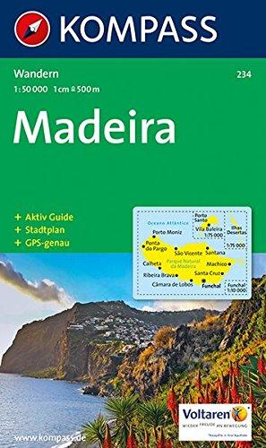 Madeira: Wanderkarte mit Aktiv Guide und Stadtplan. GPS-genau.1:50000 (KOMPASS-Wanderkarten, Band 234)