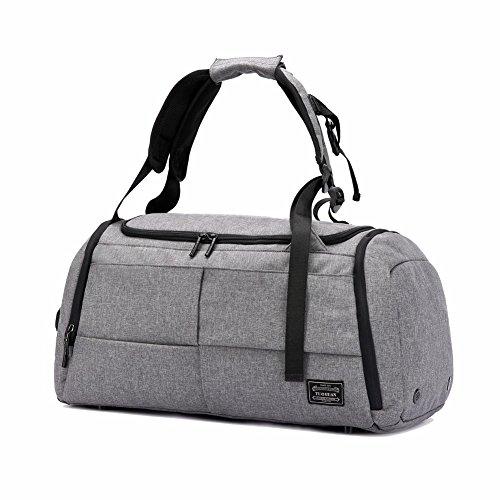 Sporttasche Reisetasche mit Schuhfach Af-tigonhw 35 Liter Handgepäck Tasche 50x25x28 Anti-Diebstahl Wasserdichte Sport Rucksack Hochwertige Canvas Mehrzweck Umhängetaschen für Frauen und Männer (Anti-diebstahl-rucksack 100)