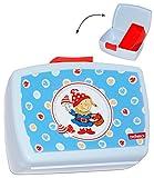 Lunchbox / Brotdose - ' Zwerge & Pilz ' - mit extra herausnehmbaren Einsatz - Brotbüchse - Zwerg - Steinbeck - Küche Essen für Mädchen & Jungen - Trennwand / Tiere - Kinder Vesperdose - Brotzeitdose - Einlagefach