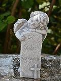 Statue Ange Figurine Pierre Tombale en en pierre, au gel Décoration funéraire