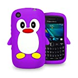Londonmagicstore® Gadgets Purple PENGUIN Soft Silicone Case for BlackBerry 9320 Curve 9320 + Screen Protector - Part of the AIO Accessories Range