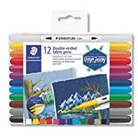 STAEDTLER Duo Tipped Fabric Marker 12 Pack