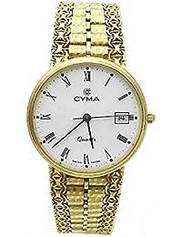 Reloj Cyma oro 18k hombre maya esfera blanca 6394 [AB3896] - Modelo: 6394