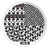DianxinNY Zarte 1 Stück Nagelplatten Metall Nail Art Stamper Schaber Schaber, Schablone Stempel Schablone Bild Plates Nail Stamper Plate Tool
