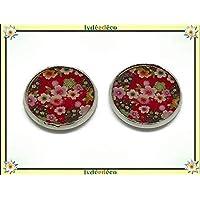 2 magneti resina magneti fiori Giappone sakura rosso 18mm regali personalizzati regalo di Natale amici mamma papà compleanno cerimonia di nozze ospiti mistress madre giorno della madre coppie