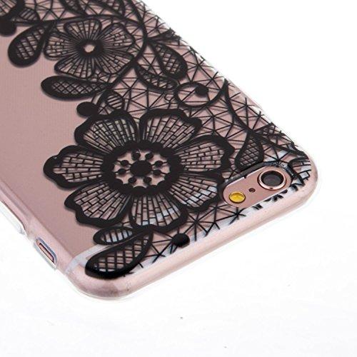 "iPhone 6S Coque,iPhone 6 Bling Case,iPhone 6S Cover - Felfy Ultra Mince Slim Gel TPU Silicone élégant Ultra Thin Bling Plating Case Coque Bumper Cas Housse pour Apple iPhone 6/6S 4.7"" (Losange Violet) Trois Fleurs"