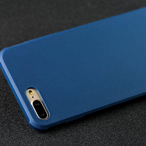 iPhone 7 Plus hülle,Lizimandu Case Für apple iphone 7plus aus TPU Silikon - Handy Schutzhülle Cover(Drachen Schwarz/Dragon Black) Blau/Blue