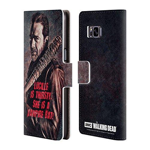 alking Dead Lucille Vampir Fledermaus Negan Brieftasche Handyhülle aus Leder für Samsung Galaxy S8 (Negan-fledermaus)
