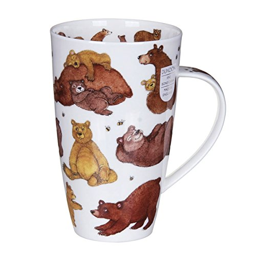 Gorgeous 'Grizzlies' Grizzly Brown Bear Dunoon Fine Bone China Large Mug Henley Style by Dunoon -