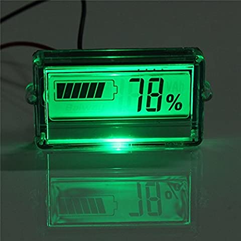 Bluelover Waterproof LCD Battery Capacity Tester Indicator 12V L-acid Lithium - Lithium Battery