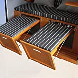 XINRO® – XY-71 – Volllieger Ostsee Strandkorb anthrazit inkl. Strandkorbhülle u. 4x Kissen, – schwarzes Polyrattan, Ostsee Strandkorb Form - 6
