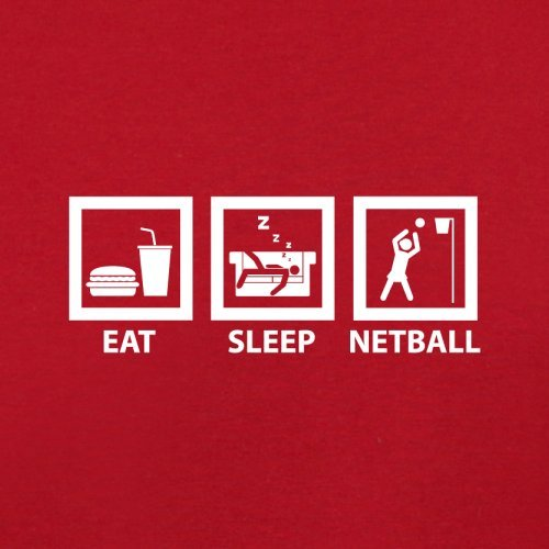 Eat Sleep Netball - Herren T-Shirt - 13 Farben Rot
