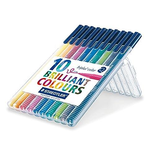 Staedtler 1.0 mm 323 Triplus Colour Fibre-tip Pens, Assorted Colours, Pack of (Desktop Box)