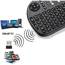 Ociodual Mini Teclado Inalambrico con Touchpad NO Bluetooth para Smart TV PC Tablet Negro