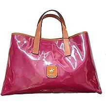 Beverly Hills Polo Club - Bolso de asas de Piel para mujer rosa fucsia