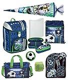 Familando Fußball Schulranzen-Set Scooli FlexMax 8tlg. mit Sporttasche, Schultüte 85cm groß und Regenschutz