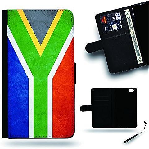 Per Cellulare Negozio//2016Coppa Coppa del Mondo Case Cover Protezione Completa Custodia a portafoglio in pelle Slot per Apple Iphone 6Iphone 6s iPhone6/iphone6s/Sud Africa Bandiera Grunge carta