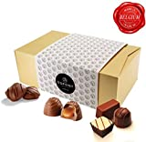Belgische schokolade – Weihnachtsgeschenke pralinenschachtel mit milch und zartbitterschokolade, trüffel,Ganache,pralinen. DuPont Chocolatier – perfekten schokoladen geschenkpackung für geburtstage
