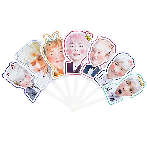 Coaste Antilane BTS Kpop Bangtan Jungen Band Members Fanartikel Handfächer/Hand Fan (Style 01)