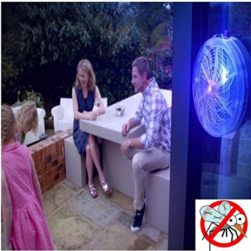 Wawer UV Solar Light Electric Mosquito Trap Outdoor/Indoor,Home/Travel/Kitchen Buzz Kill Zapper Killer,Safe&Clean Fly Insect Bug Pest Killer Night Lamp