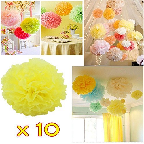 JZK® 10 PC bolas falsificación flor de papel, 20 cm 24cm de diámetro, para la decoración de la boda del cumpleaños del partido del bautizo o varias ocasiones