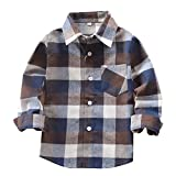 Jungenhemden Klassische beiläufige Karierte Kinderhemden für 3-11 Jahre Kinderjungen tragen