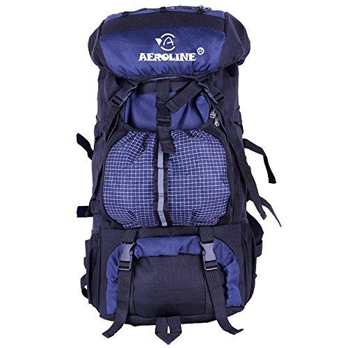 AllureFeng Outdoor-Bergsteigen Sporttasche Sport Tasche wasserdichte Tasche Herren und Damen große Kapazität Rucksack Blue