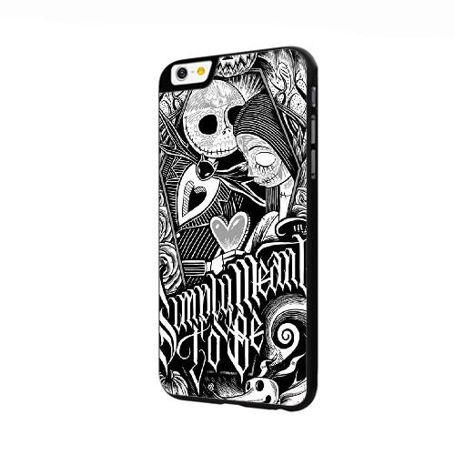 Cover iPhone 6 6S 4.7 pollice Case Nero Nightmare Before Christmas Jack And Sally V4Q4BP