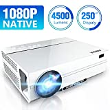 Vidéoprojecteur 4500 Lumen Native 1080p (1920 x 1080) Projecteur LED Full HD, Rétroprojecteur Prend en Charge Un Ordinateur Portable HDMI USB SD VGA AV, Smartphone - ABOX A6 Update