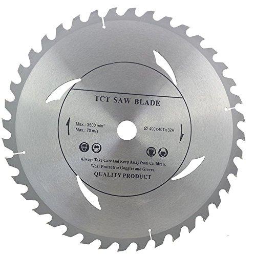 Top Qualität Kreissägeblatt (Hacken Säge) 400mm x 32mm x 40T für Holz Trennscheiben Zirkular