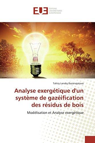 Analyse exergétique d'un système de gazéification des résidus de bois